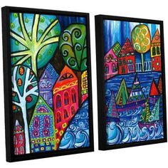 ArtWall Debra Purcell The Watershed 2-Piece Floater Framed Canvas Set, Size: 24 x 32, Multicolor