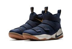 507bf14c623c The Nike LeBron Zoom Soldier 11 Gets a Sharp Navy   Gold Look