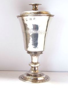 Silver communion cup and paten, London, 1569