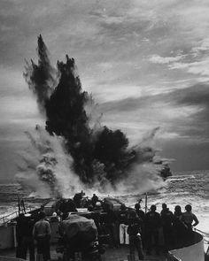 U-Boat hunting by an unidentified Coast Guard Cutter, 1941