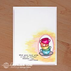 Card by LauraJane featuring Coffee Happy by Shery Russ Designs