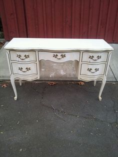 Vintage Queen Anne French Provincial Desk Vanity To Be Painted Custom On Etsy 645 00