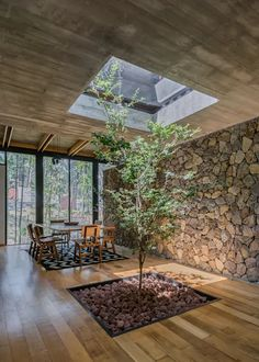 Image 4 of 18 from gallery of M House / saavedra arquitectos. Photograph by Ricardo de La Concha Architecture Design, Stairs Architecture, House Viewing, Natural Home Decor, Stone Houses, My Dream Home, Custom Homes, Interior And Exterior, Exterior Design