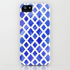 Watercolor Diamonds in Cobalt Blue iPhone & iPod Case by Micklyn - $35.00