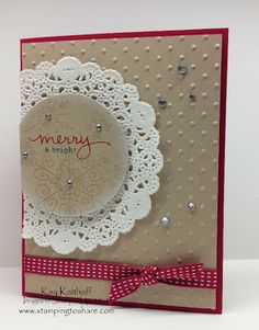Kay Kalthoff is Stamping to Share with Stampin' Up! Endless Wishes Photopolymer Stamp Set, Christmas Card, How To Video