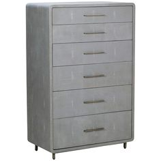 Interlude Home Calypso Tall Chest - Gray 195058
