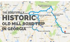 This beautiful road trip will lead you to some of the more serene places in the Georgia