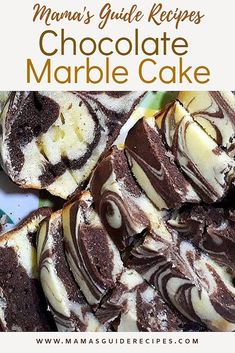 Homemade Chocolate Vanilla Marble cake for Mother's Day. This was really soft, moist and with perfect amount of sweetness. Marble Cake Recipe Moist, Cake For Two Recipe, Marble Cake Recipes, Easy Cake Recipes, Dessert Recipes, Marble Wedding Cake Recipe, Cookie Recipes, Bunt Cakes, Cupcake Cakes