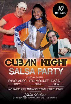 Cuban night salsa party Salsa Party, Cuban, Budapest, Palace, Dj, Night, Image, Merengue, Reggaeton