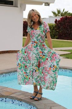 Short Sleeve Maxi Dress 03/2015 - BurdaStyle