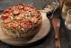 Food Categories, Greek Recipes, Bruschetta, Salmon Burgers, Baked Potato, Camembert Cheese, Vegetarian, Ethnic Recipes, Drink