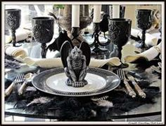 haunted tablescapes