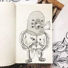 @paulaulart_ - Petit sketchbook qui fait plaisir en cou... | Picbear