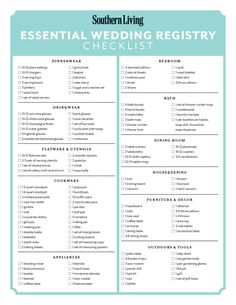 There Are So Many Options Available That It S Hard To Know What Essential For Your Registry We Recommend Using Our Wedding Checklist Make