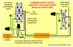 Multiple outlets controlled by a single switch home electrical wiring diagram split receptacle cheapraybanclubmaster Images
