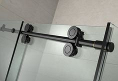 Aston Langham 48 in. Completely Frameless Sliding Shower Enclosure in Oil Rubbed Bronze with Right - The Home Depot Corner Shower Enclosures, Frameless Shower Enclosures, Frameless Sliding Shower Doors, Neo Angle Shower Doors, Shower Base, Shower Screen, Safety Glass, Oil Rubbed Bronze, Bronze Finish