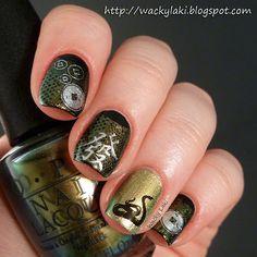 CHINESE Year of the Snake #nail #nails #nailart