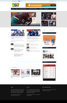 Portal NHL Brasil Responsivo