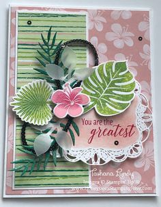 Honeybee's Stamping Hive: Tropical Chic - You Are The Greatest