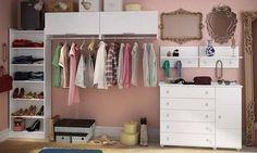 Quarto Modulado Closet com Guarda-roupa Sem Portas, Ponte Modulada com…