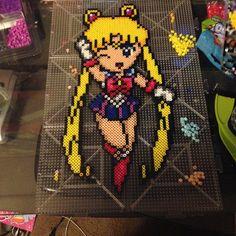 Sailor Moon perler beads by otaku_brony69