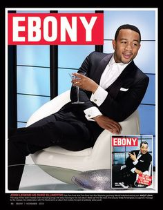 To celebrate its anniversary issue and icons of the past and present, EBONY magazine asked their favorite entertainers to pose in modern-day recreations of those covers for a one-of-a-kind look back at the past. Featuring: John Legend (as Duke Ellington), Jet Magazine, Black Magazine, Media Magazine, Magazine Rack, Dona Summer, Ebony Magazine Cover, Magazine Covers, Diahann Carroll, 65th Anniversary