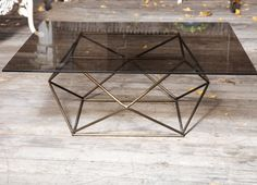 A Square American Coffee Table with Iron Frame | From a unique collection of antique and modern coffee and cocktail tables at https://www.1stdibs.com/furniture/tables/coffee-tables-cocktail-tables/