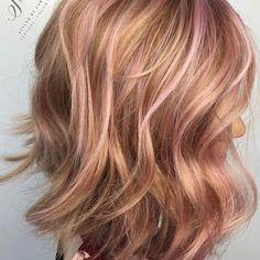 Strawberry  blonde with a hint of pink  .  .  .  .  #licensetocreate #olaplex #pravana