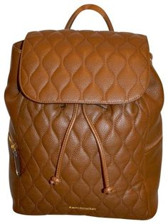 6030c760bf43 Vera Bradley Cognac Leather Amy Quilted Backpack - Tradesy Quilted Leather,  Vera Bradley, Leather