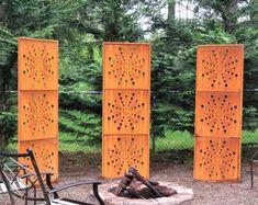 Wind Spinners Trellises & Garden Decor by metalartfever on Etsy Clematis Trellis, Flower Trellis, Garden Trellis, Garden Stakes, Garden Torch, Metal Yard Art, Metal Fence, Metal Art, Moon Garden