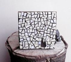 minimal art glass mosaic The Fire  black by LaTenagliaImpazzita, €36.50