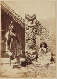 (32AD) BURTON BROTHERS Aporo and Ngareta at Wairoa (with Hinemihi) n\Burton Brothers c1885 albumen silver print 200 x 145mm Note:… / MAD on Collections - Browse and find over 10,000 categories of collectables from around the world - antiques, stamps, coins, memorabilia, art, bottles, jewellery, furniture, medals, toys and more at madoncollections.com. Free to view - Free to Register - Visit today. #Photography #IndigenousPeople #MADonCollections #MADonC