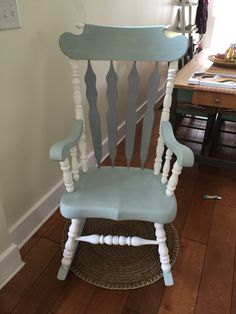Rocking Chair With Chalk Paint