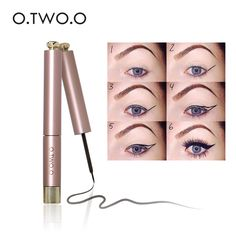 Only $2.21 , O.TWO.O Waterproof Black Liquid Eyeliner Pen Make Up Beauty Eye Liner Pencil Cosmetics Lipstick Eyebrow