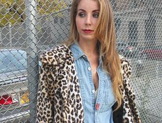 Denim on Denim Leopard Coat Why Did You Wear That Kirsten Smith