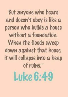 Luke 6:49