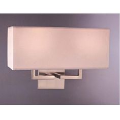 george kovacs Brushed Nickel Two-Light Wall Sconce $116 bellacor.com