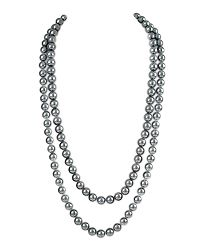 """27 1/2"""" + EXT Gray Pearl Two Row Necklace Retail - $24.50 You Pay - $12.25 w/ free shipping in the US."""
