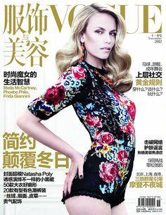 Natasha Poly Dons Dolce & Gabbana for Vogue China's November 2012 Cover--that hair