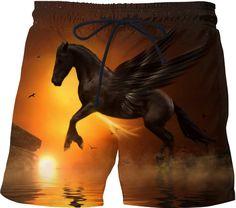 Black Pegasus Swim Shorts