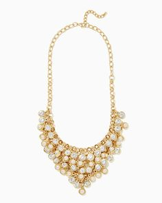 charming charlie | Edie Faux Pearl Statement Necklace | UPC: 400000227245 #charmingcharlie
