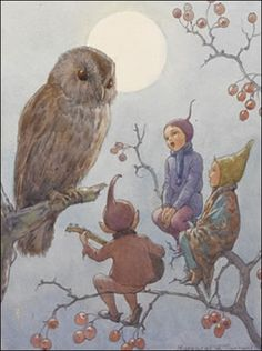 """A Carol for Brown Owl""  by Margaret W Tarrant"