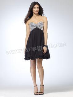 Chiffon A-line Sequin Dress