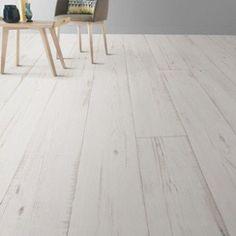 Sol PVC blanc keywest, ARTENS Textile l.4 m   Leroy Merlin