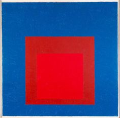 Josef Albers, Homage to the Square: Against Deep Blue, 1955