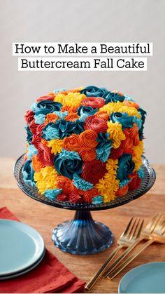 Pretty Cakes, Cute Cakes, Beautiful Cakes, Amazing Cakes, Wilton Cakes, Mini Cakes, Cupcake Cakes, Icing Colors, Bundt Cakes