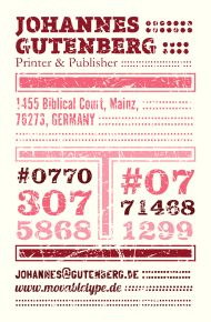 Letterpress business cards in the style of hatch show prints hatch show print ish biz card business reheart Image collections