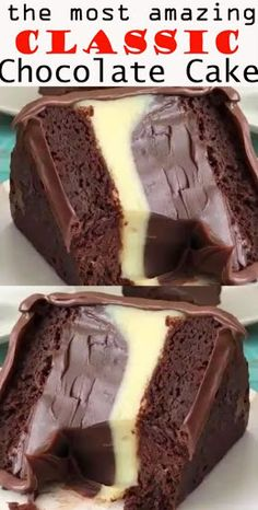 Classic chocolate cake – recipes & DIY – About Dessert World Healthy Dessert Recipes, Just Desserts, Delicious Desserts, Yummy Food, Amazing Dessert Recipes, Amazing Deserts, Healthy Food, Tasty, Classic Chocolate Cake Recipe