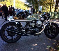 #caferacer #dgrmunich #munich #motoguzzi #chrome #distinguishedgentlemansride #dgr #bad #badass #black #beautifull #germany #motorcycle #porn #cool #nice #custom #bike