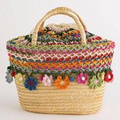 Free Crochet Bag Patterns Part 24 - Beautiful Crochet Patterns and Knitting Patterns Free Crochet Bag, Crochet Tote, Crochet Handbags, Crochet Crafts, Crochet Summer, Crochet Poncho, Diy Sac, Knit Basket, Boho Bags